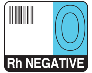 Barcode Blood Identification Labels