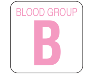 Group Type Blood Identification Labels