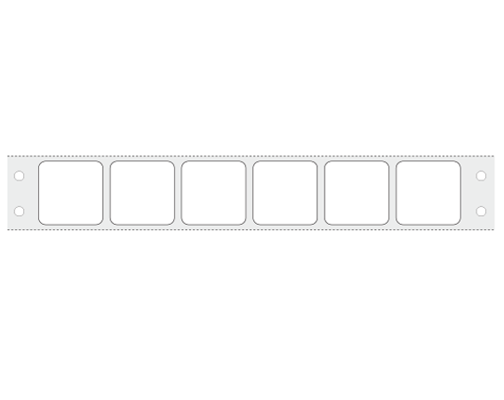 """White 15/16"""" x 15/16"""" Pinfed Printer Labels for the Laboratory"""