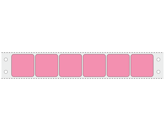 """Rose 15/16"""" x 15/16"""" Pinfed Printer Labels for the Laboratory"""