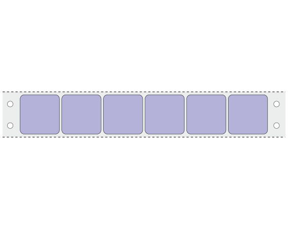 """Violet 15/16"""" x 15/16"""" Pinfed Printer Labels for the Laboratory"""