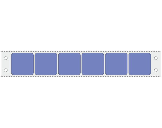 """Lavender 15/16"""" x 15/16"""" Pinfed Printer Labels for the Laboratory"""