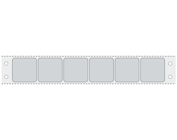 """Gray 15/16"""" x 15/16"""" Pinfed Printer Labels for the Laboratory"""