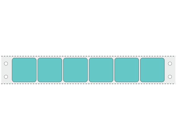 "Aqua 15/16"" x 15/16"" Pinfed Printer Labels for the Laboratory"