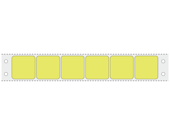 """Chartreuse 15/16"""" x 15/16"""" Pinfed Printer Labels for the Laboratory"""