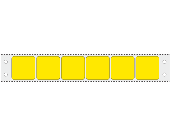 """Yellow 15/16"""" x 15/16"""" Pinfed Printer Labels for the Laboratory"""