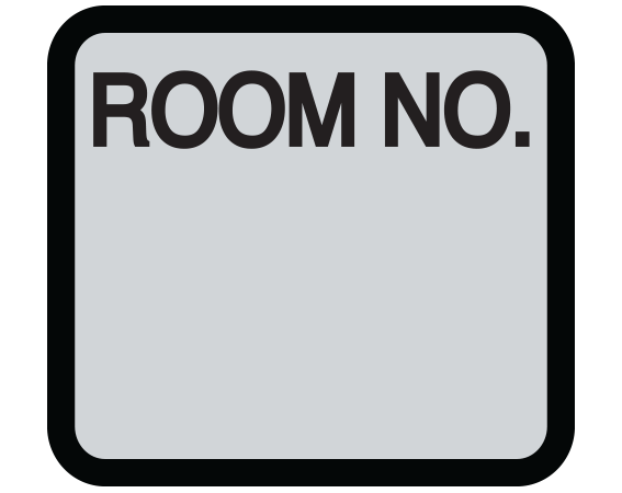 """Gray 1-3/8"""" x 1-1/2"""" Patient Chart Room Number Labels  - With Imprint: ROOM NO."""