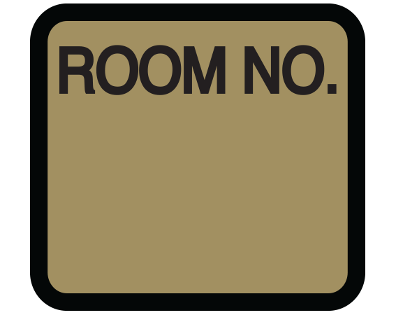 """Gold 1-3/8"""" x 1-1/2"""" Patient Chart Room Number Labels  - With Imprint: ROOM NO."""