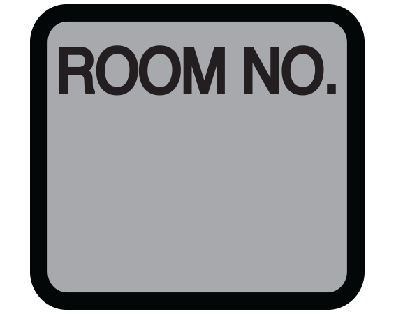 """Silver 1-3/8"""" x 1-1/2"""" Patient Chart Room Number Labels  - With Imprint: ROOM NO."""
