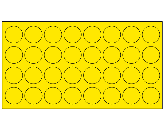 """Yellow 7/16"""" DIAMETER Cryostick Labels for Cryogenic Use"""
