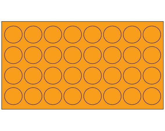 "Fluorescent Orange 7/16"" DIAMETER Cryostick Labels for Cryogenic Use"