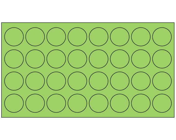 """Fluorescent Green 7/16"""" DIAMETER Cryostick Labels for Cryogenic Use"""