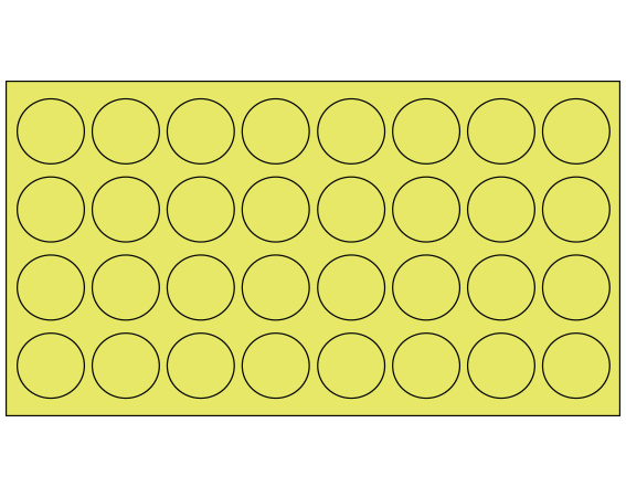 """Fluorescent Chartreuse 7/16"""" DIAMETER Cryostick Labels for Cryogenic Use"""