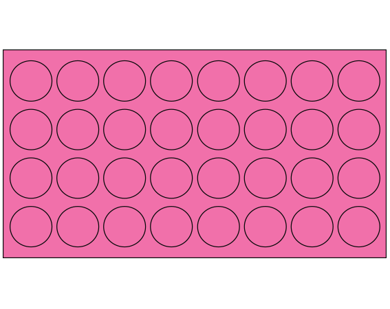 """Fluorescent Pink 7/16"""" DIAMETER Cryostick Labels for Cryogenic Use"""