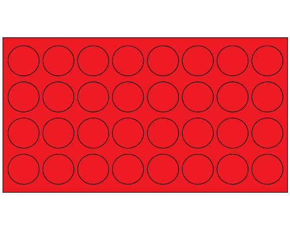 """Red 7/16"""" DIAMETER Cryostick Labels for Cryogenic Use"""