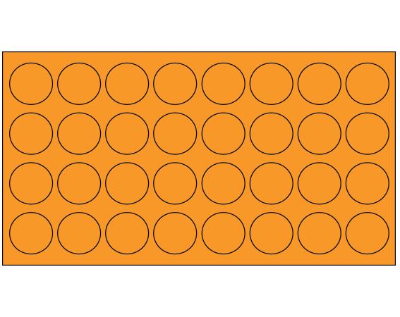 "Orange 7/16"" DIAMETER Cryostick Labels for Cryogenic Use"