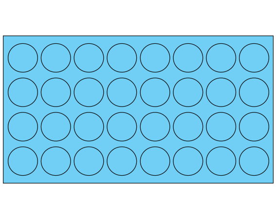 """Blue 7/16"""" DIAMETER Cryostick Labels for Cryogenic Use"""