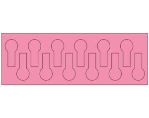 "Rose 7/16"" x 15/16"" Color Coded Fault Finder Tabs"