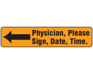 Sign Here Labels
