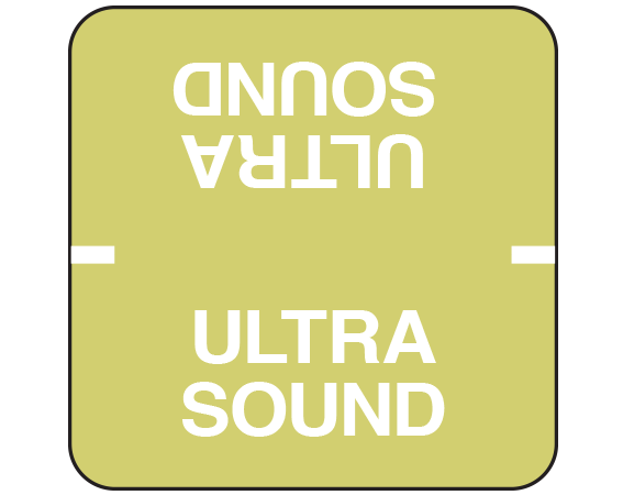 "White 1-7/8 "" x 1-7/8"" File Folder Procedure Information Labels  - With Imprint: ULTRA / SOUND"