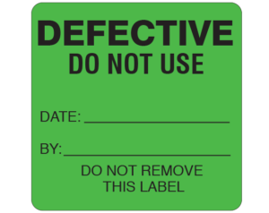 Printed Equipment Labels