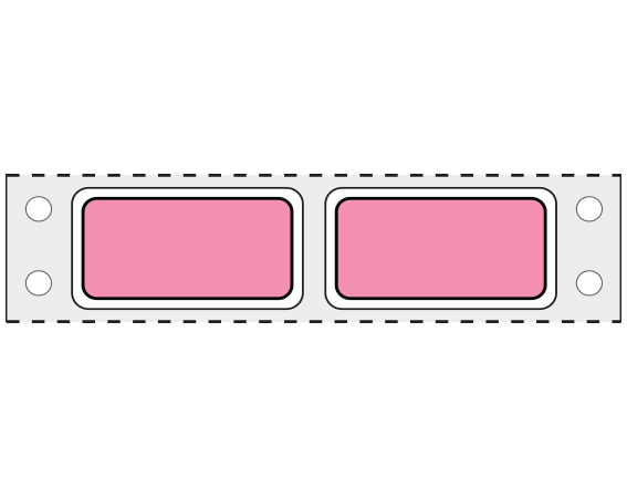 """Rose 3/4"""" x 1-1/2"""" Pinfed Printer Labels for Patient Charge Systems - Piggyback"""