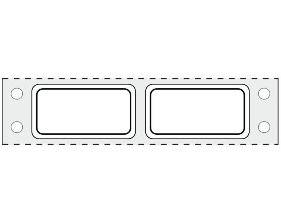 """White 3/4"""" x 1-1/2"""" Pinfed Printer Labels for Patient Charge Systems - Piggyback"""