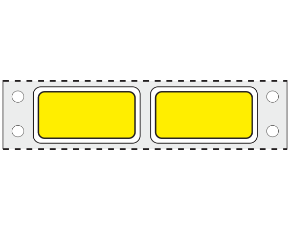 """Yellow 3/4"""" x 1-1/2"""" Pinfed Printer Labels for Patient Charge Systems - Piggyback"""