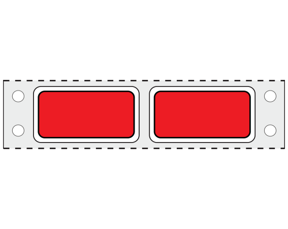 """Red 3/4"""" x 1-1/2"""" Pinfed Printer Labels for Patient Charge Systems - Piggyback"""