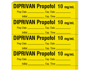 Propofol syringe dating