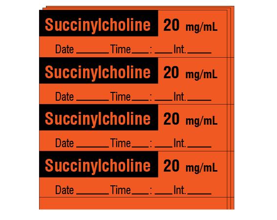 SA-2225-DTI-PK   Anesthesia Drug Labels for Syringe Identification - Pack  Form