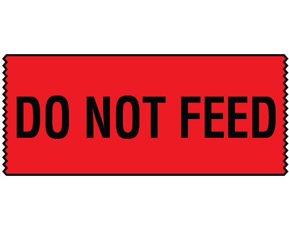 """Red 3/4"""" x 500"""" Animal Care Labels for Veterinary Medicine  - With Imprint: DO NOT FEED"""