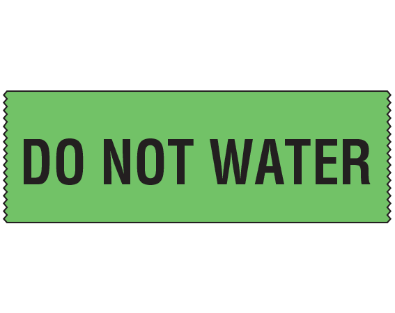"""Green 3/4"""" x 500"""" Animal Care Labels for Veterinary Medicine  - With Imprint: DO NOT WATER"""