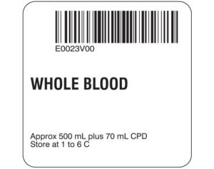 Whole Blood Labels