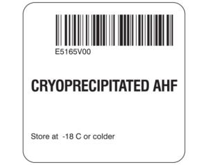 Cryoprecipitated AHF Labels
