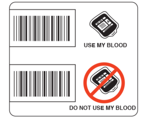 Blood Donor Option Labels