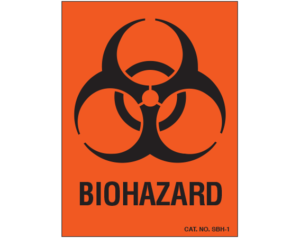Biohazard Warning Labels