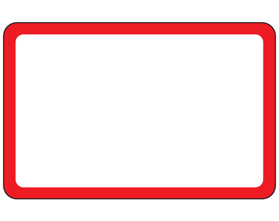 """White 1-1/2"""" x 2-1/2"""" Red Border Pre-Cut Labels for the Laboratory"""