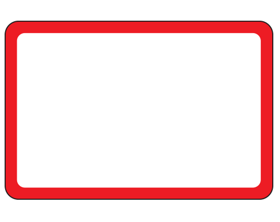 """White 2"""" x 3"""" Red Border Pre-Cut Labels for the Laboratory"""