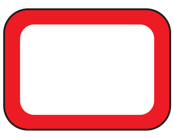 """White 3/4"""" x 1"""" Red Border Pre-Cut Labels for the Laboratory"""