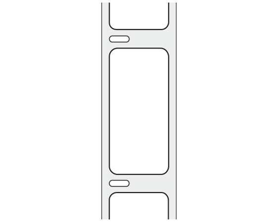 "White 2-1/8"" x 1"" Thermal Labels for Desktop Printers"