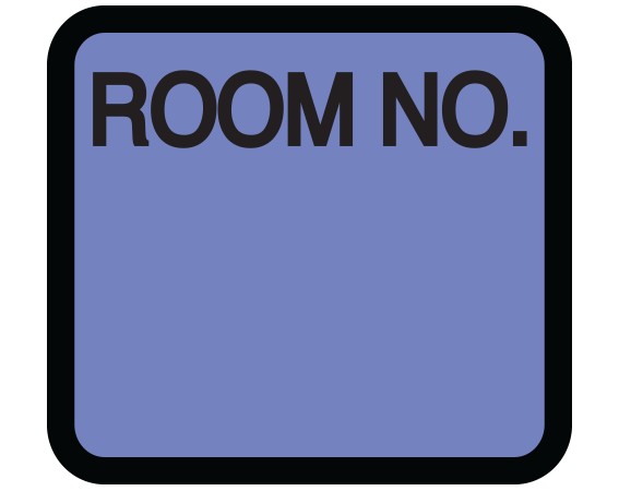 """Lavender 1-3/8"""" x 1-1/2"""" Patient Chart Room Number Labels  - With Imprint: ROOM NO."""