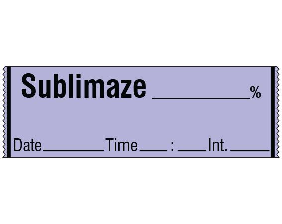 "Violet 1/2"" x 500"" Anesthesia Drug Labels for Syringe Identification - Tape Form  - With Imprint: SUBLIMAZE _____ % / Date _____ Time _____ Int. _____"