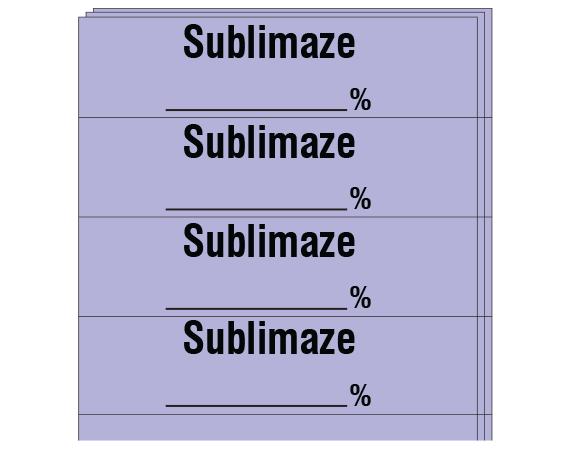"""Violet 1/2"""" x 2"""" Anesthesia Drug Labels for Syringe Identification - Pack Form  - With Imprint: SUBLIMAZE _____%"""