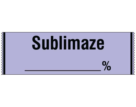 "Violet 1/2"" x 500"" Anesthesia Drug Labels for Syringe Identification - Tape Form  - With Imprint: SUBLIMAZE _____%"
