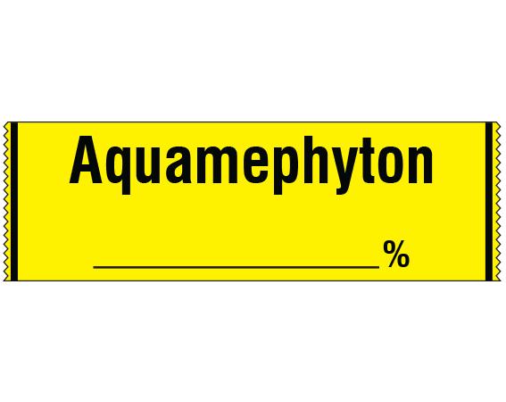 "Yellow 1/2"" x 500"" Anesthesia Drug Labels for Syringe Identification - Tape Form  - With Imprint: Aquamephyton _____ %"