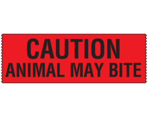 Caution animal may bite