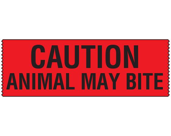 Caution animal may bite
