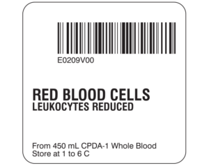 Red Blood Cells Labels
