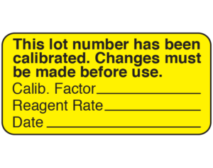 UPCR-3009 Communication Labels for Equipment Calibration